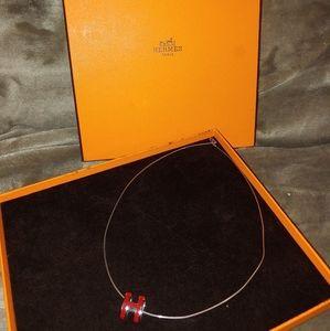 Hermes Paris Necklace (RED)